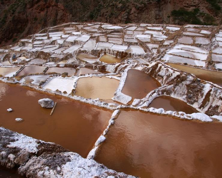 Maras Salzterrassen in der Nähe von Machu Picchu